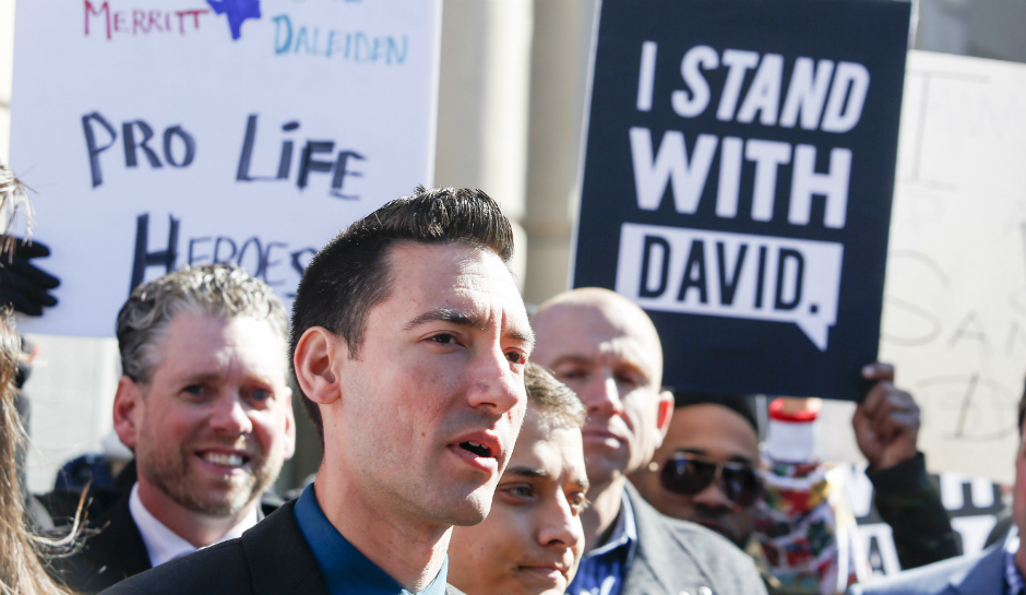 David Daleiden is accusing a district attorney and Planned Parenthood of corruption