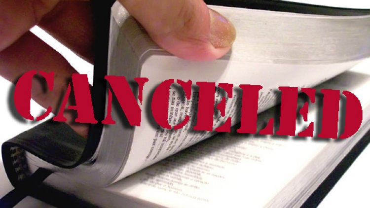 Cancelled Bible Class